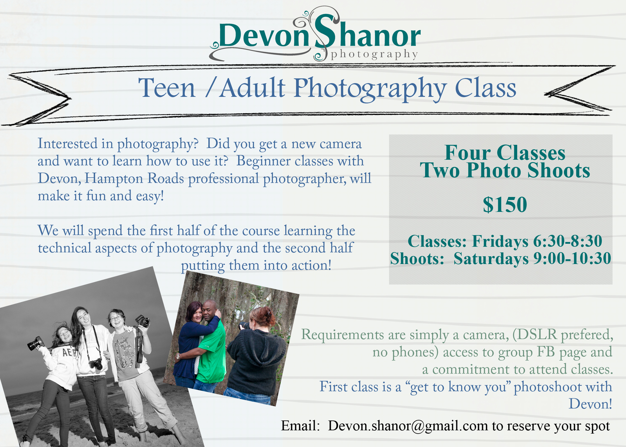 New year photography Class